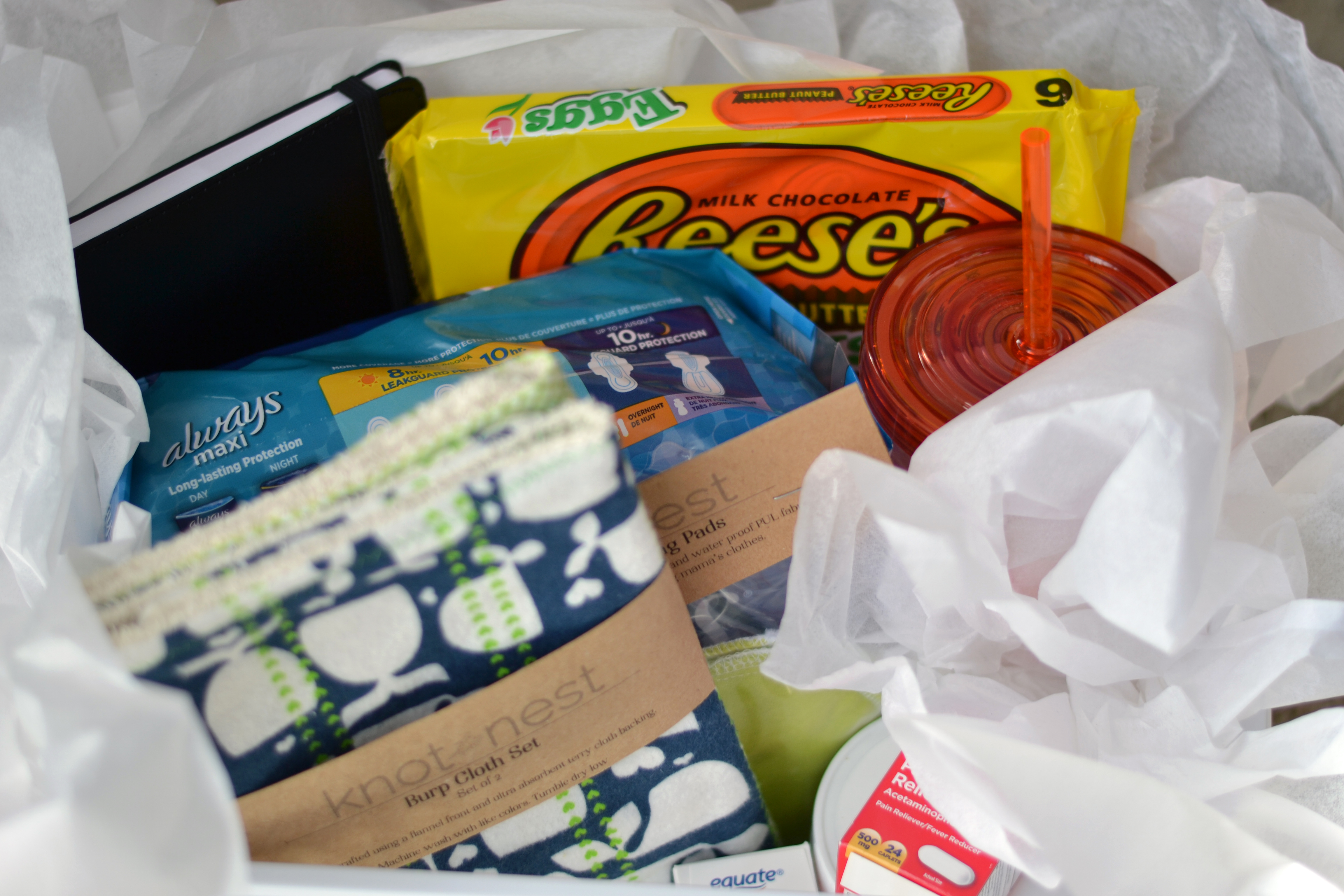 post-partum gift basket for mom